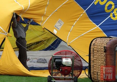 Slavnostní let horkovzdušného balonu