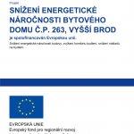 Snížení energetické náročnosti domu čp. 263